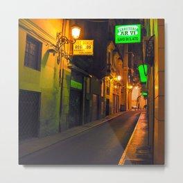 Nocturnal Alley - Valencia - Spain  Metal Print