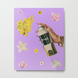 Spring Cleaning Metal Print