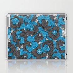 In Bloom (blue & grey) Laptop & iPad Skin