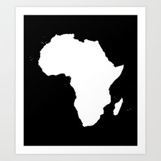 AFRICA NIGHT Art Print