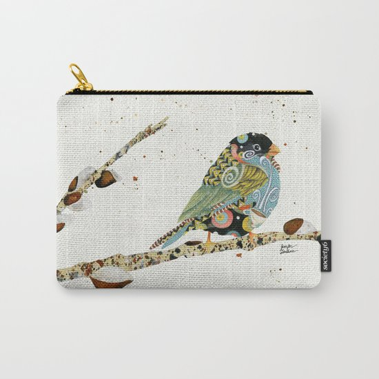 Cafe Swirly Bird 4 Carry-All Pouch