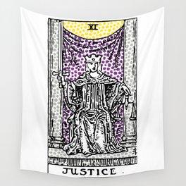 Modern Tarot Design - 11 Justice Wall Tapestry