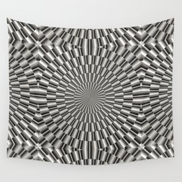 High tech silver metal surface Wall Tapestry