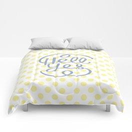 Hell Yes! (Yellow) Comforters