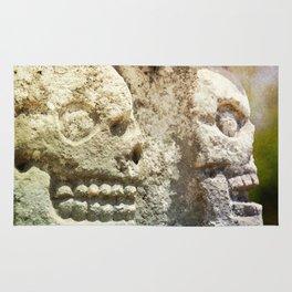 Mayan Stone Skulls Rug