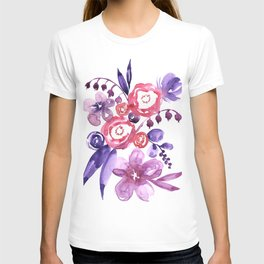 """Floral abstract bouquet """"Emma"""" T-shirt"""
