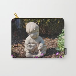 Boy With Two Rabbits  Carry-All Pouch