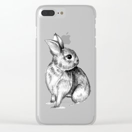 Bunny #4 Clear iPhone Case