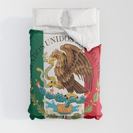 Flag of Mexico & Coat of Arms augmented scale Comforters