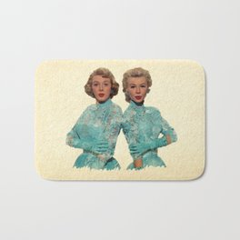 Two Different Faces... (Sisters) Bath Mat