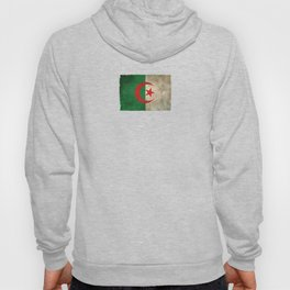 Old and Worn Distressed Vintage Flag of Algeria Hoody