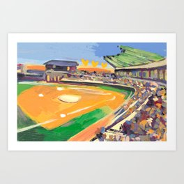 LSU Softball Art Print