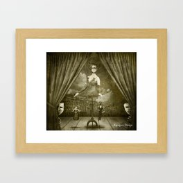 Dark Victorian Portrait Series: A Ghastly Spectacle Framed Art Print