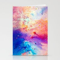 cosmos Stationery Cards featuring Cosmos by Kimsey Price