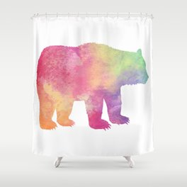 Watercolor Bear Shower Curtain