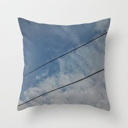 clouds and wire, abstract, no.03 Throw Pillow