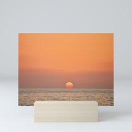 Sunset and Sea Mini Art Print