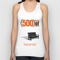 500 days of summer Tank Tops featuring 500 Days Of Summer by FunnyFaceArt