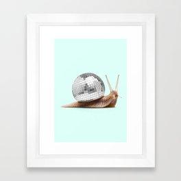 DISCO SNAIL Framed Art Print