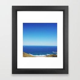 waves::horizon::beach Framed Art Print