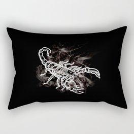White Scorpion Stylish Scorpio Zodiac Rectangular Pillow