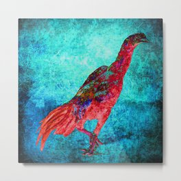 Red Jungle Fowl Metal Print