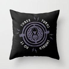 Three Turns Throw Pillow