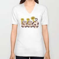 cows V-neck T-shirts featuring Singing Cows by Zoo&co on Society6 Products