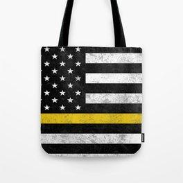 Thin Gold Line Flag Tote Bag