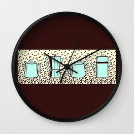 c0ffee pots Wall Clock
