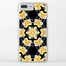 Sun Beam Abstract Clear iPhone Case