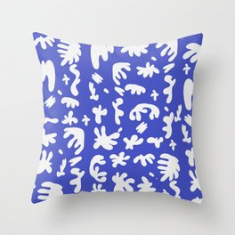 Blue Cut Outs Pattern Throw Pillow