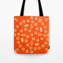 Kiwano, Papaya & Gooseberry [Orange] • Mandala Tote Bag