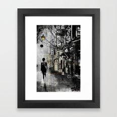 china town walk Framed Art Print