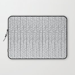 Knit Wave Grey Laptop Sleeve