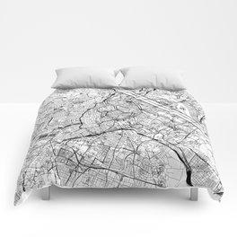 Vienna White Map Comforters