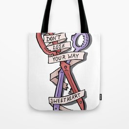 Kill La Kill - Don't Lose Your Way Sweet Heart Tote Bag