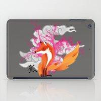 kitsune iPad Cases featuring Kitsune by Mazuki Arts