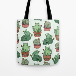Cacti Cat pattern Tote Bag