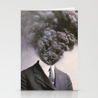 power Stationery Cards featuring Outburst by J U M P S I C K ▼▲