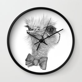 Mr. Ostrich Wall Clock