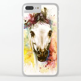 """Into the mirror"" n°2 The horse Clear iPhone Case"