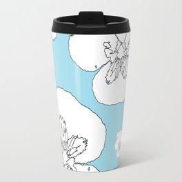 Blue Pansies Travel Mug