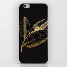 The golden leaf iPhone Skin