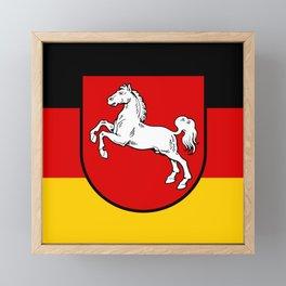 Flag of Niedersachsen (Lower Saxony) Framed Mini Art Print