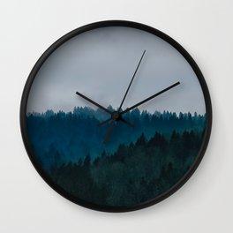 Blue Fog Wall Clock