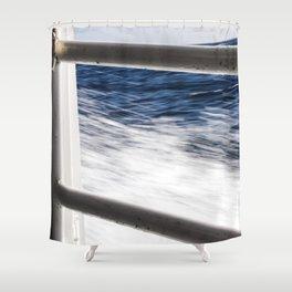 Island Metal Works Study: exhibit c Shower Curtain