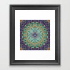 Travel Into Dimensions Mandala. Framed Art Print