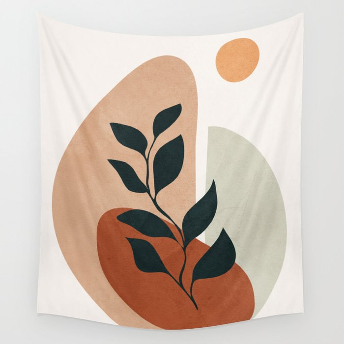 Soft Shapes II Wall Tapestry