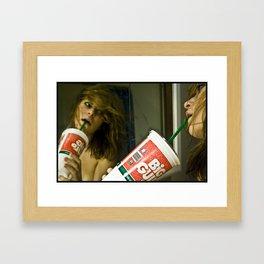 Big Slurpy Framed Art Print